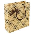 Romwe Plaid Pattern Oversized Paper Storage Bag