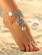 Romwe Coin Detail Boho Anklet