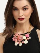 Romwe Ethnic Flower Beads Chain Statement Necklace