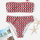 Romwe Random Geometric Bikini Set