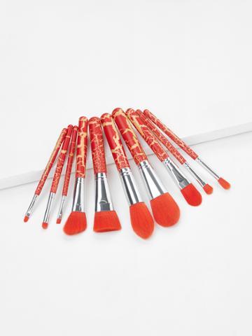 Romwe Crack Handle Makeup Brush Set 10pcs
