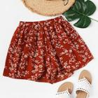 Romwe Floral Print Shorts
