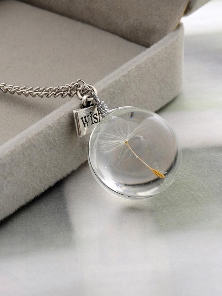 Romwe Ball Pendant Chain Necklace