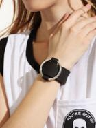 Romwe Black Metal Ring Bracelet