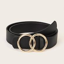 Romwe Guys Double O-ring Buckle Belt