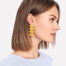 Romwe Contrast Drop Earrings 1pair