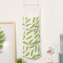 Romwe Plant Print Hanging Storage Bag 1pc