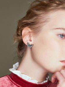 Romwe Butterfly Design Stud Earrings