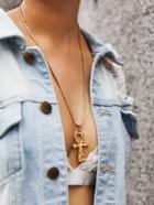 Romwe Cross Pendant Chain Necklaces
