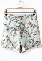 Romwe High Waist Florals Shorts