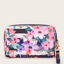 Romwe Flower Pattern Makeup Bag