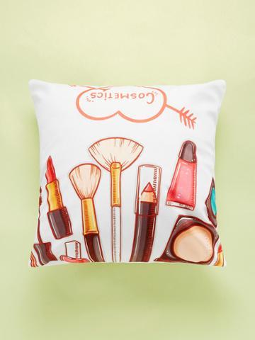 Romwe Makeup Tools Print Cushion Cover