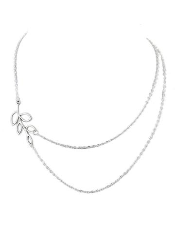 Romwe Silver Plated Chain Necklace