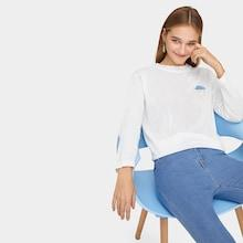 Romwe Cloud Embroidered Jumper