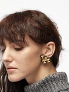 Romwe Gold Letter Stud Earrings