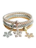 Romwe Snowflake Charm Bracelet 3pcs
