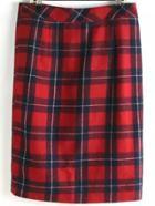 Romwe Plaid Split Pencil Skirt