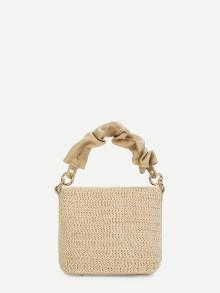 Romwe Straw Shoulder Bag With Handle