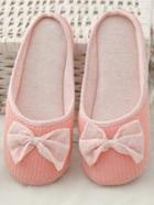 Romwe Bow Decor Flat Slippers