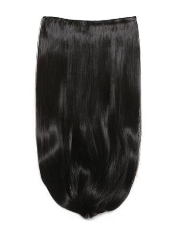 Romwe Natural Black Clip In Long Straight Hair Extension