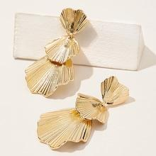 Romwe Layered Shell Drop Earrings 1pair