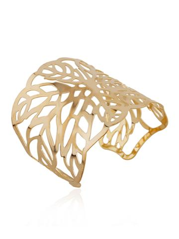 Romwe Cut Out Leaf Cuff