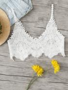 Romwe Crochet Crop Top