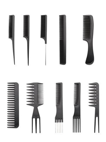 Romwe Multi Shaped Hair Comb Set 10pcs
