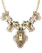 Romwe Bead Chain Pendant Necklace