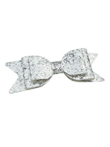 Romwe Silver Color Bow Shape Big Hair Clips