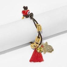 Romwe Hand & Tassel Charm Bracelet 1pc