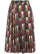 Romwe Zipper Plaid Pleated Skirt
