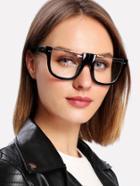 Romwe Metal Flat Top Glasses