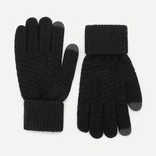 Romwe Guys Plain Gloves