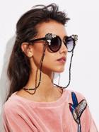 Romwe Beaded Glasses Chain