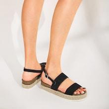 Romwe Suede Slingback Espadrille Sandals