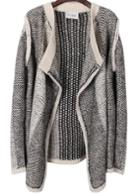 Romwe Long-sleeve Knit Cardigan