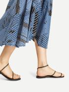 Romwe Braided Strap Toe Ring Flat Sandals