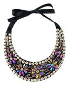 Romwe Colorful Beads Flower Collar Necklace