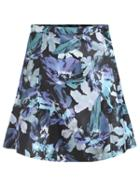 Romwe Florals Peplum Hem Skirt