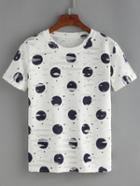 Romwe Polka Dot T-shirt