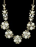 Romwe White Pearl Gold Necklace