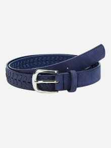 Romwe Metal Buckle Braided Belt