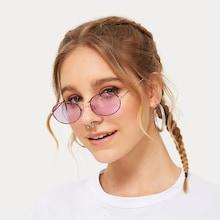 Romwe Tortoiseshell Frame Oval Lens Sunglasses