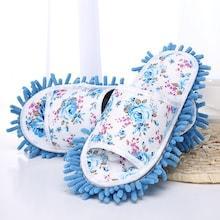 Romwe Flower Print Floor Cleaning Mop Slippers
