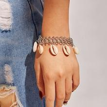 Romwe Seashell Charm Chain Bracelet 1pc