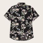 Romwe Guys Button Up Floral Print Shirt