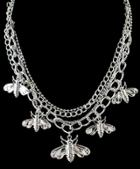 Romwe Silver Insect Chain Necklace