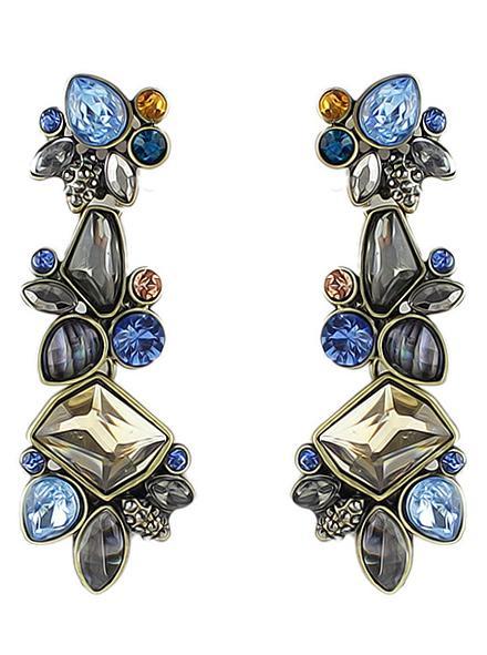 Romwe Multicolor Drop Gemstone Earrings