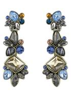 Romwe Multicolor Drop Gemstone Earrings